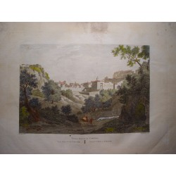 España. Cataluña. Tarragona. «Vista general de Tortosa» Alexander Laborde (1810-11).