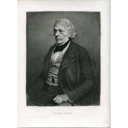 Retrato. Victor Cousin. A. Masson grabado copia de una fotografia de Nadar