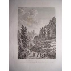 España. Cataluña. Barcelona «Entrada del Monasterio de Mont-serrat» Alexandre Laborde (1810-11).