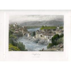 Austria. Lauffenberg grabado por E.P.Brandard, 1875