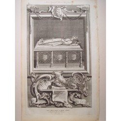 The Monument of King John in the Cathedral of  Worcester'.Dib. Gravelot. Engraved by John Goldar (Oxford, 1729-Londres,1795)