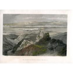Palestina. El llano de Jericó, tomado del oeste, grabado por C. Cousen.