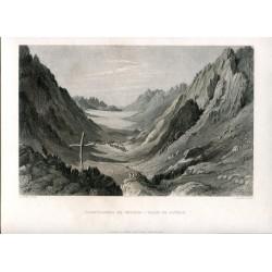 Palestina. Desfiladero de Shoeib-valle de Jethro grabado por C. Cousen