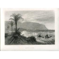 Israel. Monte Carmelo. Grabado por E. Brandard