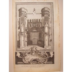 The Monument in Westminster Abbey of K.Henry V' Dib. Gravelot. Engraved by Goldar (Oxford,1729-Londres,1795).
