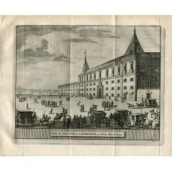Portugal. Palais du Comte d'Avero a Lisbonne ou Charles III a ete Logé grabado 1715 por Alvarez de Colmenar.