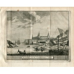 Portugal. Vue du Palais que le Roi de Portugal a achetér grabado 1715 por Alvarez de Colmenar