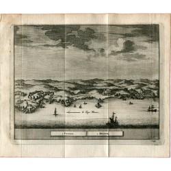 Portugal.Cascaes et Bellem grabado 1715 por Alvarez de Colmenar.