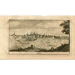 Portugal. Ebora, grabado 1715 por Alvarez de Colmenar.