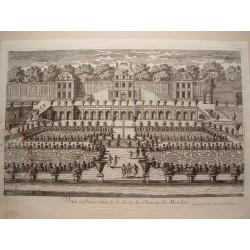 «Veue et perspective de la Grote du Chateau de Meudon» Dibujó y grabó Pierre Aveline (París,1856-1722)