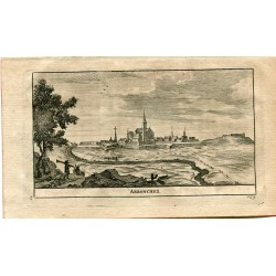 Portugal. Arronches, grabado 1715 por Alvarez de Colmenar.
