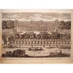«Veue du Chateau Neuf de St. Germain en Laye du costé de la Champagne» Dib.y grabó Pierre Aveline (París,1656-1722)