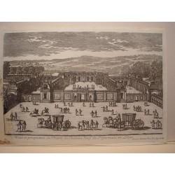 «Veue et perspective de l´Entree du Chateau Neuf de St. Gremain en Laye» Dib. Y grabó Pierre Aveline (París,1656-1722)»