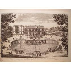 «Veue et perspective du Chateau de St. Cloud du coté de l´Escalier» Dibujó.y grabó Pierre Aveline (París,1656-1722).