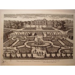 «Veue et perspective de Trianon de St. Cloud du costé du Jardin» Dibujó.y grabó Pierre Aveline (París,1656-1722).