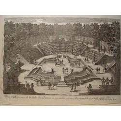 «la Salle des Dances a Versailles comme elle est en cette presante année 1687» Dibujó.y grabó Pierre Aveline (París,1656-1722)