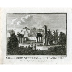 Grabado Grace Dieu Nunnery in Rutlandshire por Hawkins