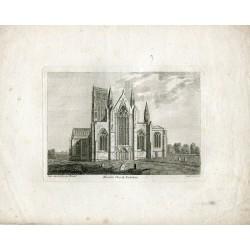 Inglaterra. Howden Church Yokshire grabado por Sparrow en 1785