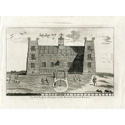 Inglateerra. Lumley Castle grabado tomado de un dibujo de Edward Barras