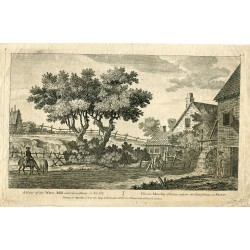 Inglaterra. A view of the Water Mill near Lewisham grabado por J. Cleveley en 1770