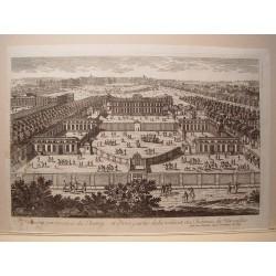 «Perspective du Chemy et d´vrie partie de la ville et du Chateau de Versailles» Dibujó y grabó Pierre Aveline (París,1656-1722)