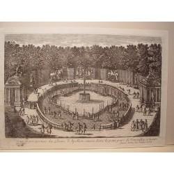 «Veue des Bains d´Apollon, situez dans le petit parc de Versailles, a main droite» Dib..y grabó Pierre Aveline (París,1656-1722)