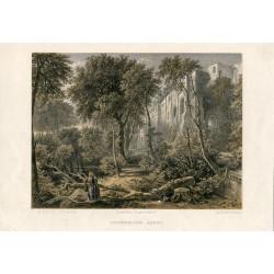 Escocia. Dunfermline litografia por T. Picken de una obra de D.O.Hill