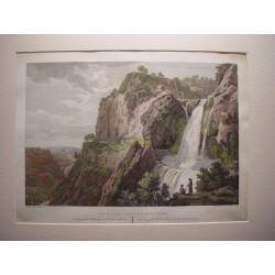 España. Cataluña. Barcelona. «Vista de la Cascada de Sn. Miguel Delfay». Alexandre Laborde (1810-11).