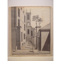 Francia. «The West Prospect of the Parísh Church of St. Olave in the Old Jewry» Por  B.Cole