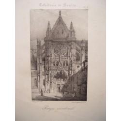 Francia. «Cahtedrale de Senlis». Dib. Nicolas Chapuy (París,1790-1858).Lit. Godefroy Engelmann (Mulhouse,1788-1839)