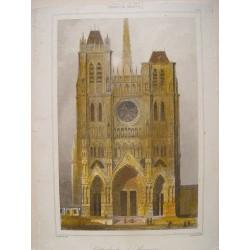 Francia. «Cathédrale d´Amiens» Grabado por Agustín Francois Lemaitre (París,1797-1870).