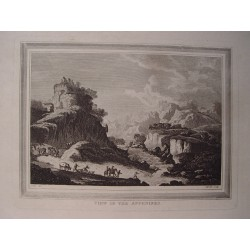 Italia. 'View of the Appenines' Dibujo Metz. Engraved by Heath.