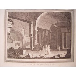 Italia. 'Catacomes of the Aruntii in Italy' Dibujo Metz. Engraved by Heath.