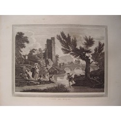 Italia. 'View in Milan' Painted by Vernel. Engraved by Walker.
