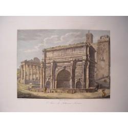 Italia. Roma. 'Arco di Settimio Severo'. Por el grabador romano Domenico Amici.