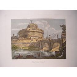 Italia. Roma. «Castel Sant´Angelo». Por el grabador romano Domenico Amici.