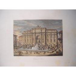 Italia. Roma. 'Fontana di Trevi' . Por el grabador romano Domenico Amici.
