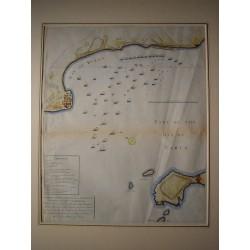 Spain. Andalusia. 'Plano de la Bahia de Cadiz y Rotta'