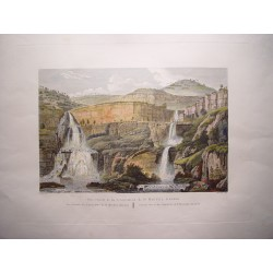 España. Cataluña. Barcelona «Vista general de las cascadas de Sn. Miguel Delfay» Alexandre Laborde (1810-11)