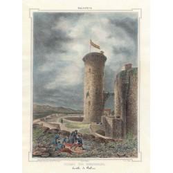 Spain. Baleares. Palma de Mallorca. 'Torre del Homenaje del Castillo de Bellver'