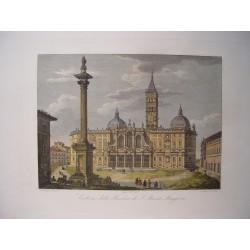 Italia. Roma. «Esterno della Basílica di Santa Maria Maggiori». Por el grabador romano Domenico Amici.