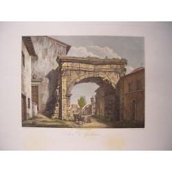 Italia. 'Arco di Settimio Severo al Velardo'. Por el grabador romano Domenico Amici.