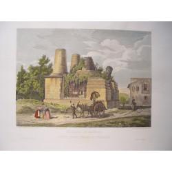 Italia. 'Sepolcro di Arunte, detto degli Orazj e Curiazj' . Por el grabador romano Domenico Amici.