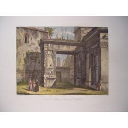 Italia. 'Arco di Gallieno'. Por el grabador romano Domenico Amici.