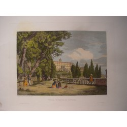 Italia.Tivoli. «Villa d´Este». Por el grabador romano Domenico Amici.