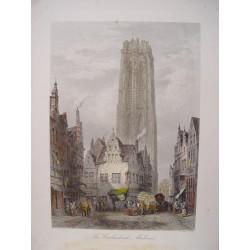 Bélgica. «The Catedral Malines». Dibujó LewisJohn Wood (1813-1901).Grabó J.J.Crew