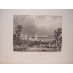 Bélgica. «Plains of Waetrloo».Dibujó J. Cooper. Grabó Robert Grandard (1805-1862).