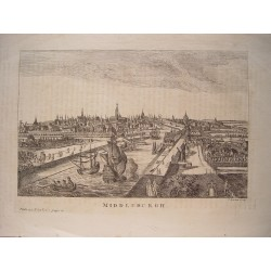 Holanda. 'Middleburgh' Engraved by Francis Garden