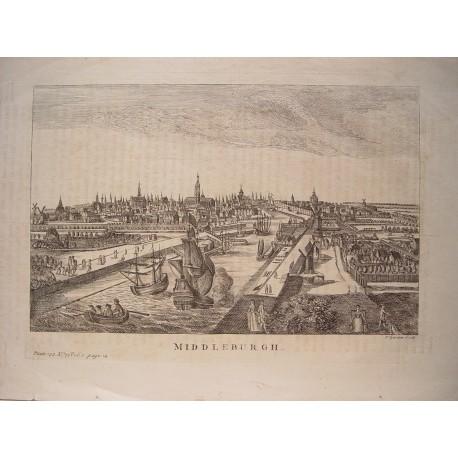 Holanda. 'Middleburgh' Engraved by Francis Garden
