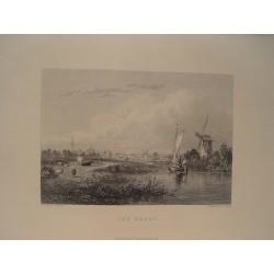 Holanda. «The Hague» Dibujó J.S. Cooper.Grabó William Finden (1787-1852).